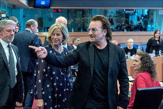 Bono visits the European Parliament