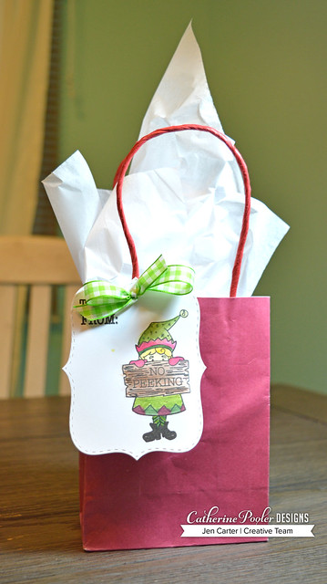 Jen Carter Make Own Tags Santa Approved Bag by Sadie