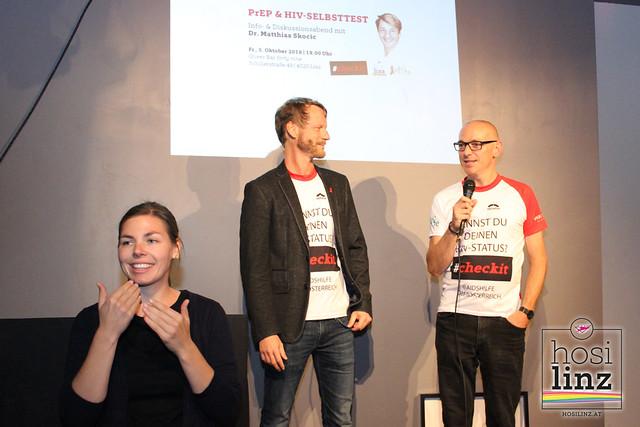 05.10.2018: Vortrag Dr. Matthias Skocic über PrEP und den HIV-Selbsttest