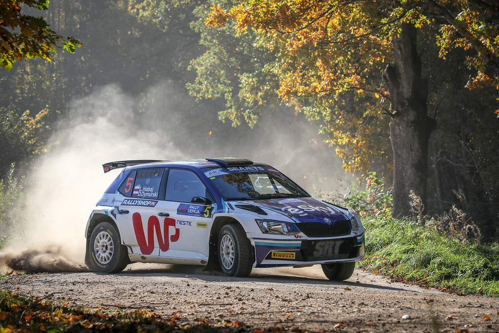 05 HABAJ Lukasz , (POL), Daniel DYMURSKI, (POL), RALLYTECHNOLOGY, Skoda Fabia R5, Action during the 2018 European Rally Championship ERC Liepaja rally,  from october 12 to 14, at Liepaja, Lettonie - Photo Alexandre Guillaumot / DPPI