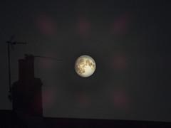 Moon - dark rooftops