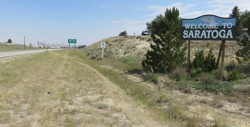 Entering Saratoga (Saratoga, Wyoming)