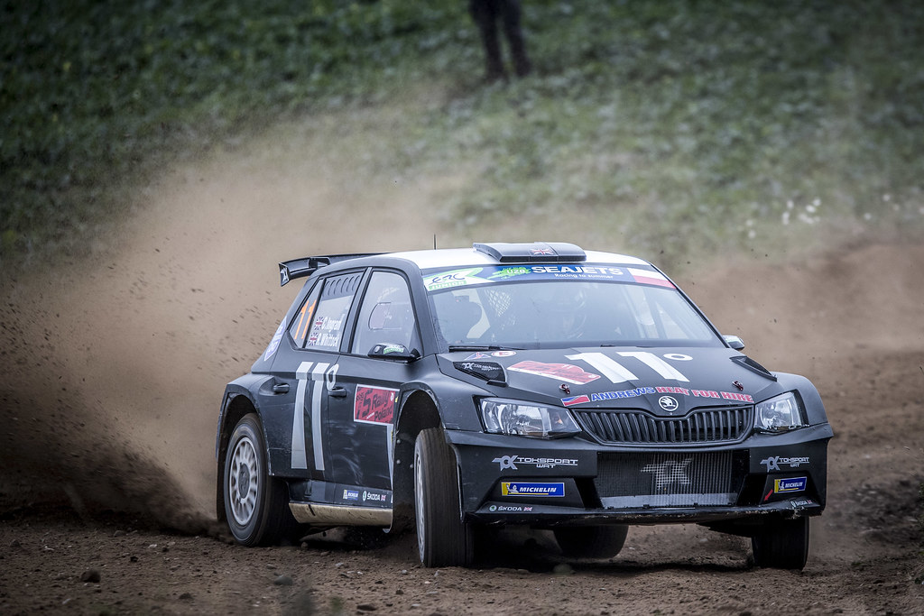 11 INGRAM Chris (GBR), WHITTOCK Ross (GBR), TOKSPORT WRT, Skoda Fabia R5, action during the 2018 European Rally Championship PZM Rally Poland at Mikolajki from September  21 to 23 - Photo Gregory Lenormand / DPPI