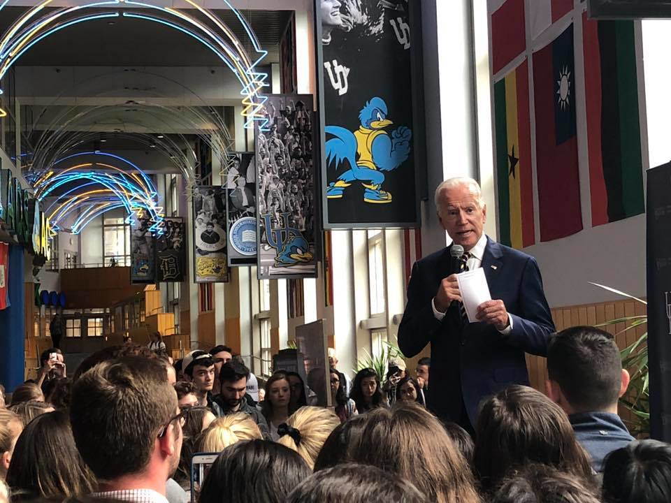 Joe Biden makes appearance on campus for National Voter Registration Day