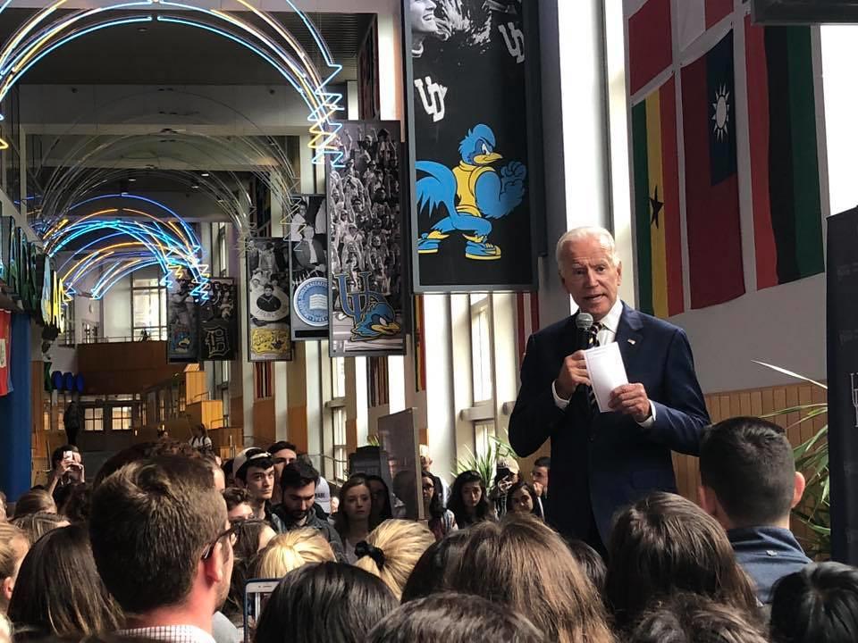 Joe Biden makes appearance on campus for National Voter Registration Day