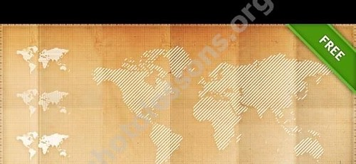 World map in PSD format free Photoshop source