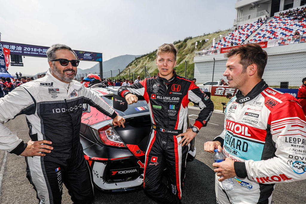 MULLER Yvan, (fra), Hyundai i30 N TCR team Yvan Muller Racing, portrait,EHRLACHER Yann, (fra), Honda Civic TCR team ALL-INKL.COM Munnich Motorsport, portrait during the 2018 FIA WTCR World Touring Car cup of China, at Ningbo  from September 28 to 30 - Photo Marc de Mattia / DPPI