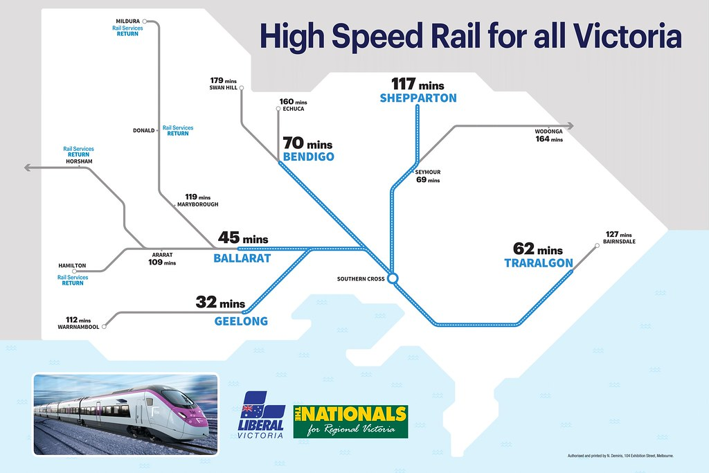 Coalition's plan for high speed rail, October 2018