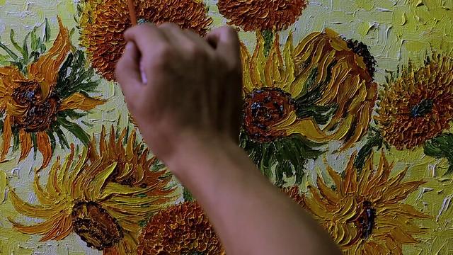 『15本のひまわり』ChinasVanGoghs-Sunflower