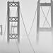 Tacoma Narrows with fog bank, Tacoma, WA by Don Briggs