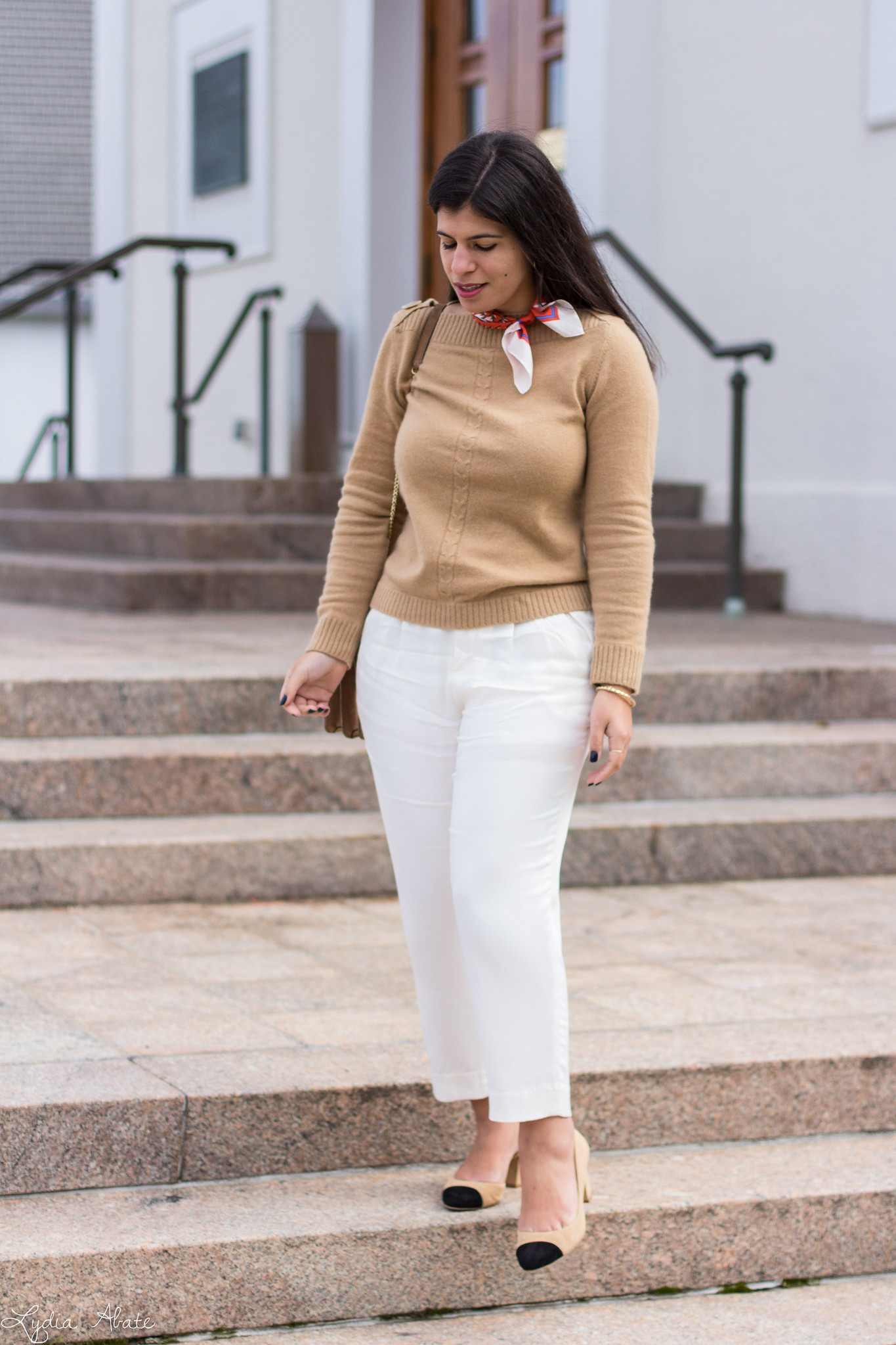 camel sweater, white pants, suede ring bag, toe cap heels-1.jpg