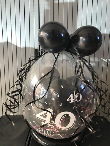 Kadoballon 40 Jaar Zwart