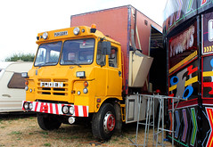 day 192 posted a photo:	PUH228Y 1982 Foden S85.Ex gritter now working on the fairgrounds.