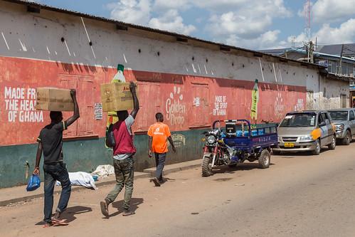 ghana kumasi motorbike people street ashanti gh