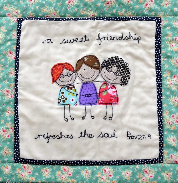 Shirley's Friendship Birthday quilt