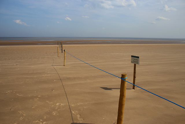 End of the accessible beach