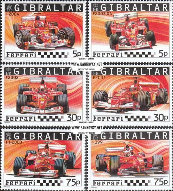 Známky Gibraltar 2004 Formula 1, séria