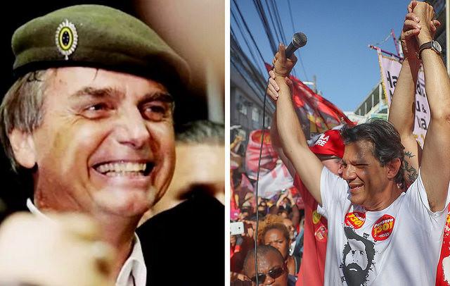 Últimas encuestas antes de elecciones confirman Bolsonaro y Haddad en segunda vuelta
