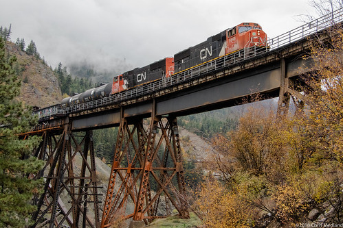 train railway railroad mainline bridge freight mixed canyon river cnr cisco