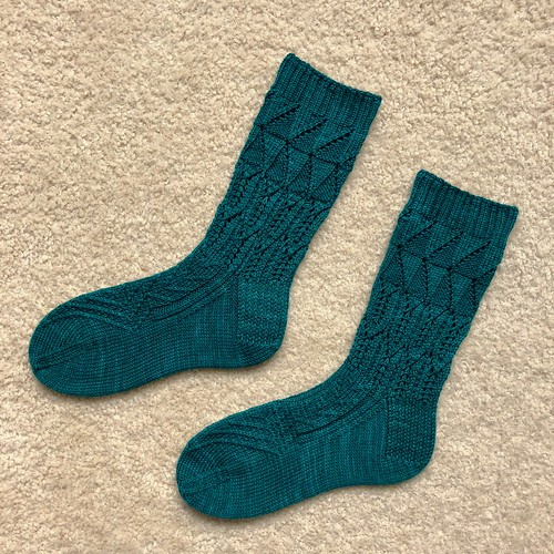 Green Dragon socks