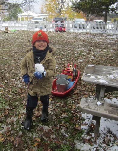 a snowball