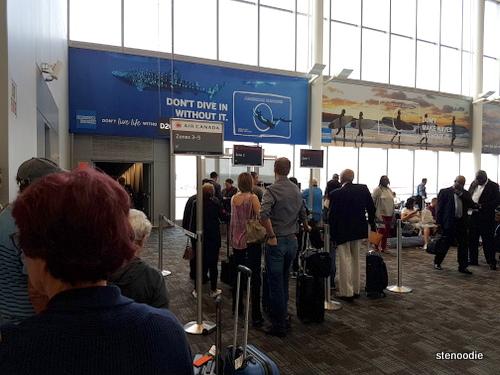Line up for flight