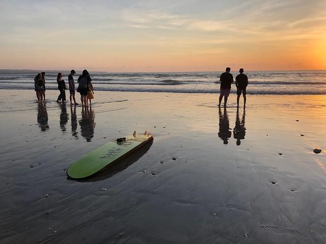 Sunset. Kuta Beach, Bali.