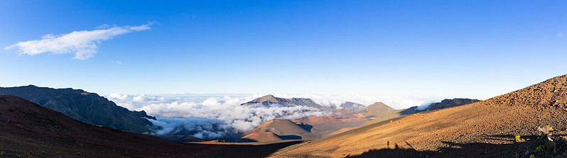 Summit of Mount Haleakala Crater Maui Hawaii pano