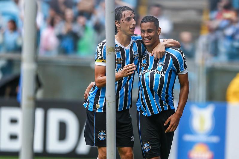 Thonny recolocou o Grêmio no jogo (Foto  Lucas Uebel Grêmio FBPA) bb0fef5da90