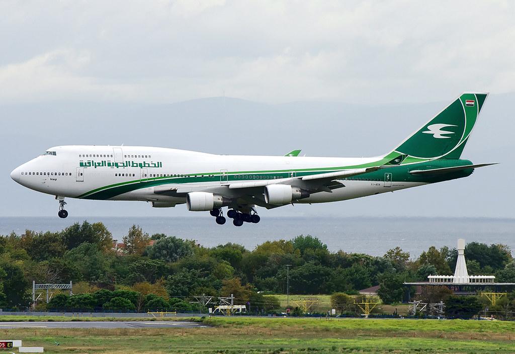 YI-ASA Iraqi Airways Boeing 747-4H6