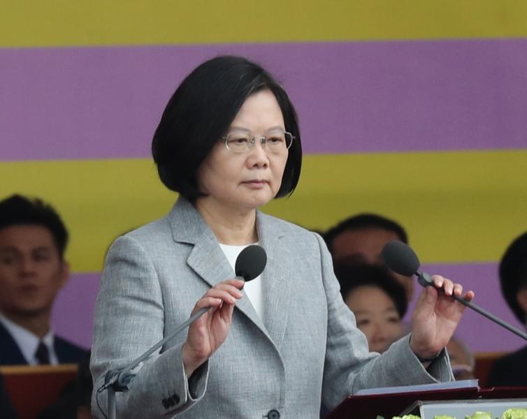 總統蔡英文發表雙十國慶談話指出,現階段破壞兩岸關係現狀的責任在中國(photo__by_/網路截圖)。