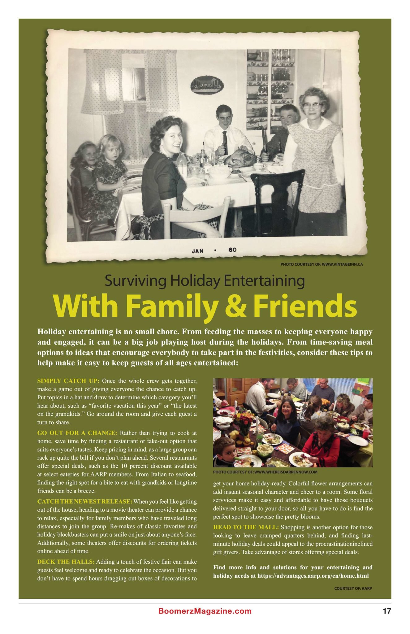 Boomerz Magazine 2018 November Surviving Holiday Entertaining With Family & Friends