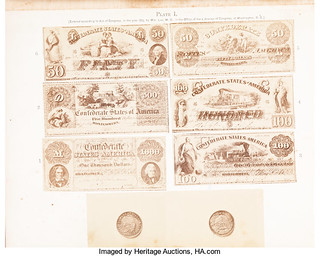 Lee Currency of the Confederate States of America plate