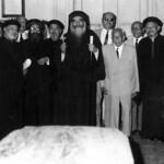 القمص جرجس ابراهيم مع البابا كيرلس السادس والأنبا غريغوريوس