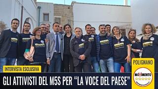 Gli attivisti del M5S di Polignano