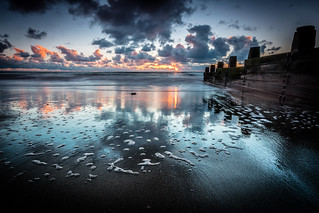 Moody and murky sunset at Tywyn