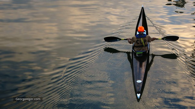 Canal Kayaker, by George Alger