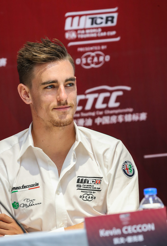 press conference, CECCON Kevin, (ita), Alfa Romeo Giulietta TCR team Mulsanne, portraitPress conference, during the 2018 FIA WTCR World Touring Car cup of China, at Ningbo  from September 28 to 30 - Photo Marc de Mattia / DPPI