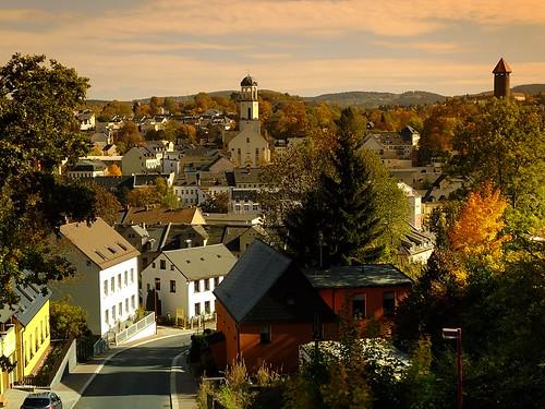 Auerbach/Vogtland im Herbst -  Auerbach / Vogtland in autumn!-