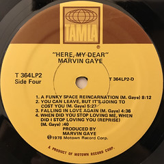 MARVIN GAYE:HERE, MY DEAR(LABEL SIDE-B)