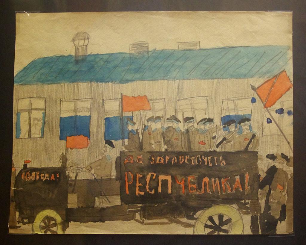 1. Автомобиль с революционными солдатами. Москва, 1917
