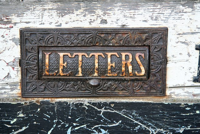 A 19th-century slot letterbox in the town of Wormgate, Lincolnshire, England. Photo taken by Richard Croft on September 21, 2008.