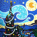 Starry Night by Parodias de Pinturas Famosas