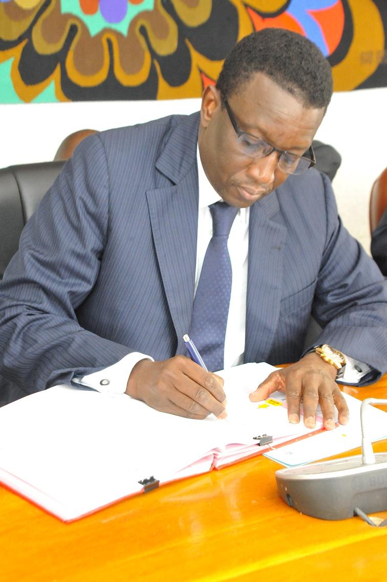 Amadou Ba lors de la Signature des Accords de prêt portant sur le financement des projets du PSE avec la BAD (5)