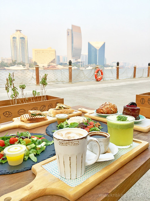 Coffee, Tea, Salads, and Desserts with a View