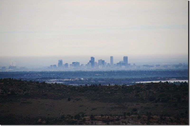 Looking northeast at downtown Denver from Deer Creek Canyon Park (3)