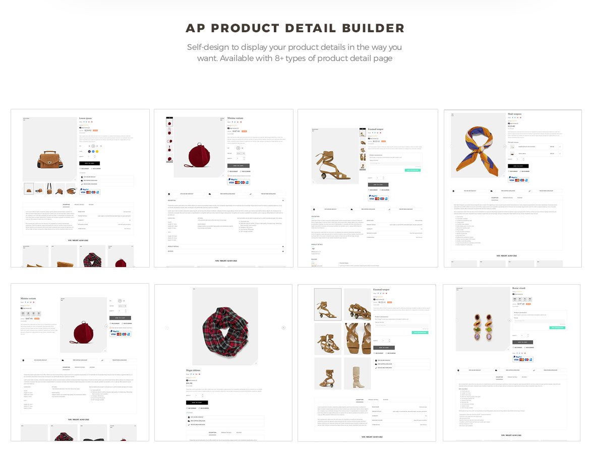 product list builder - pagebuilder-Bos Trendy Prestashop 1.7 theme - fashion theme - free install support