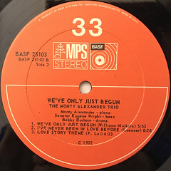 MONTY ALEXANDER:WE'VE ONLY JUST BEGUN(LABEL SIDE-B)