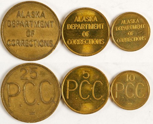 Alaska Palmer Correctional Center Tokens