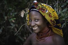 Young Mukubal girl near the market of Virei. Namibia, angola.